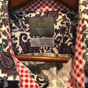 Thomas Dean Paisley Shirt